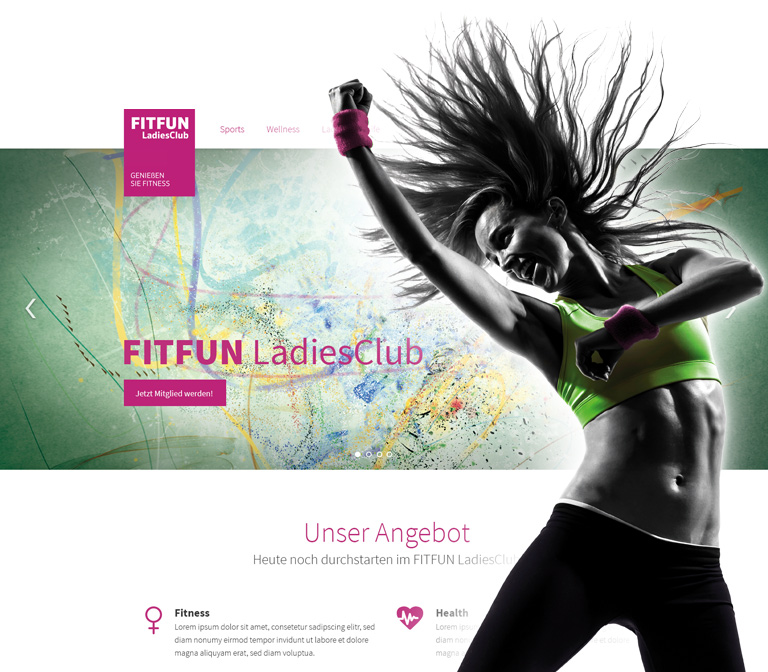 FITFUN LadiesClub Screendesign